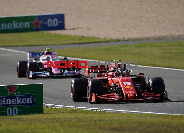 10.10.2020, Nürburgring, Nürburg, Formula 1 Aramco Grosser Preis der Eifel 2020<br /> , im Bild<br />Charles Leclerc (MCO#16), Scuderia Ferrari, Nico Hülkenberg (GER#27), BWT Racing Point F1 Team<br /> <br /> Foto © nordphoto / Bratic