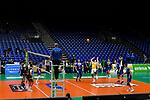 21.11.2020, Zeppelin CAT Halle A1, Friedrichshafen, GER, DVL, VfB Friedrichshafen vs Berlin Recycling Volleys,<br /> im Bild Spiel ohne Zuschauer<br /> <br /> Foto © nordphoto / Hafner