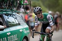 'slowly dying' up the steepest part of the brutal Mas de la Costa: the final climb towards the finish<br /> <br /> Stage 7: Onda to Mas de la Costa (183km)<br /> La Vuelta 2019<br /> <br /> ©kramon