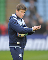 Ronan O'Gara, Consultant Racing Metro 92, is involved in the pre-match preparations during the Heineken Cup match between Harlequins and Racing Metro 92 at the Twickenham Stoop on Sunday 15th December 2013 (Photo by Rob Munro)