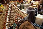 Spices for sale in the Aleppo Souq.