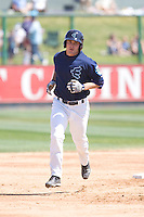 July 11, 2010: Everett AquaSox's Mickey Wiswall (17) during a Northwest League game against the Spokane Indians at Everett Memorial Stadium in Everett, Washington.