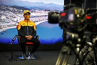 23rd September 2021; Sochi, Russia;   F1 Grand Prix of Russia 4 Lando Norris GBR, McLaren F1 Team, F1 Grand Prix of Russia at Sochi Autodrom   driver press conference
