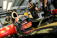 Lotus Renault F1 French driver Romain Grosjean .24/03/2012 Grand Prix Malesia, Sepang , Essais..Foto Insidefoto  /Bernard Asset / Panoramic.ITALY ONLY..