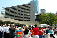 Toronto (ON), June 18, 2007 - RAINBOW FLAG RAISING AND PROCLAMATION. Kicking off Pride Week in Toronto with the raising of the rainbow flag and reading of the proclamation at Toronto City Hall's Nathan Philips Square.