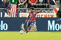 KANSAS CITY, KS - JULY 11: Gianluca Busio #6 of the United States passes the ball during a game between Haiti and USMNT at Children's Mercy Park on July 11, 2021 in Kansas City, Kansas.
