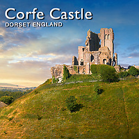 Corfe Castle Medieval Ruins, England - Pictures & Images