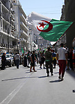 Algerian protesters march in an anti-government demonstration in the capital Algiers on August 16, 2019.  Photo by Taher Boussoualim
