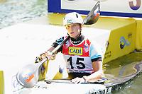 4th September 2021; Parc Olimpic del Segre, La Seu D'Urgellm ICF Slalom World Cup, Women's Kayak Final; 3rd place for Eliska Mintalova (SVK)