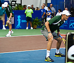 Bob and Mike Bryan at the Freedoms vs. Explorers WTT match in Villanova, PA on July 16, 2012