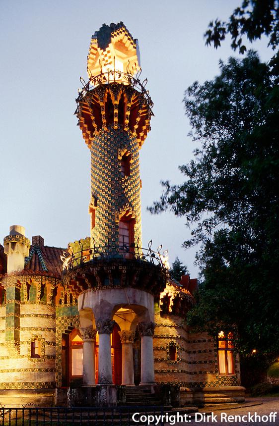 El Capricho von Antoni Gaudì 1883. Comillas, Kantabrien, Spanien