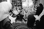 Mrs Nora Arthurs, a Catholic Voice-Box, Seer and Mystic, in her home know as<br /> 'Mary's House' on Canvey Island, Essex UK conducting a prayer meeting. 1996