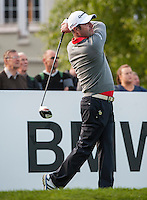 21.05.2015. Wentworth, England. BMW PGA Golf Championship. Round 1. Marco Crespi [ITA] on the first tee. The first round of the 2015 BMW PGA Championship from The West Course Wentworth Golf Club