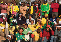 South African fans watch South Africa's match against France at the FIFA Fan Fest in Sandton, South Africa during the 2010 FIFA World Cup first round match Africa and France on Tuesday, June 22, 2010.   South Africa defeated France 2-1, but failed to qualify for the second round.