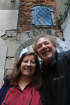 John and Beth in the streets of Brussels, Belgium
