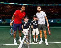 Rotterdam, The Netherlands, 9 Februari 2020, ABNAMRO World Tennis Tournament, Ahoy, Gael Monfils (FRA), Giles Simon (FRA).<br /> Photo: www.tennisimages.com