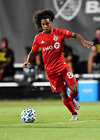 LAKE BUENA VISTA, FL - JULY 26: Jayden Nelson of Toronto FC attacks from out wide during a game between New York City FC and Toronto FC at ESPN Wide World of Sports on July 26, 2020 in Lake Buena Vista, Florida.
