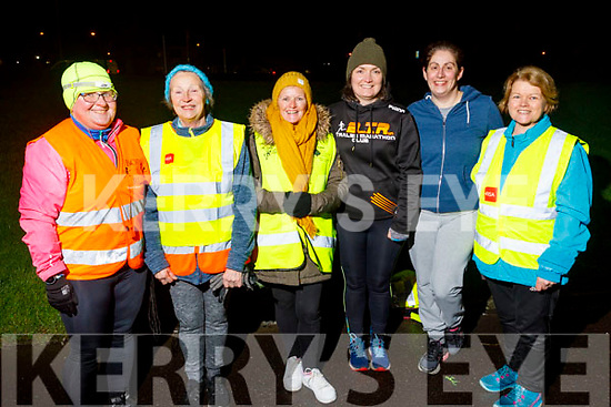 Ann O'Shea, Carmel Quilter O'Neill, Martha Keane, Fiona O'Connor, Rachel Pinckheard and June Noonan ready to take the Couch to 5k Born to Run for fun in the Aquadome on Tuesday