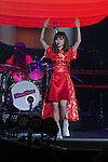 A member of the idol group Silent Siren performs during the Moshi Moshi Nippon Festival 2016 on November 26, 2016 in Tokyo, Japan. Moshi Moshi Nippon Festival 2016 aims to promote Japanese pop culture (fashion, anime, technology, music and food) to the world, and non-Japanese visitors are able to enter the event for free by showing their passport. This year's two day event included live shows by Japanese pop stars Silent Siren, Dempagumi.inc, Tempura Kids, Capsule and Kyary Pamyu Pamyu at the Tokyo Metropolitan Gymnasium. (Photo by Rodrigo Reyes Marin/AFLO)