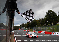 11th October 2020, Heusden-Zolder, Belgium; Germany Touring Car DTM Championships Race day;   33 Ren Rast GER, Audi Team Rosberg, Audi RS 5 DTM takes the chequered flag
