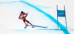 Mel Pemble, PyeongChang 2018 - Para Alpine Skiing // Ski para-alpin.<br /> Mel Pemble skis in the women's standing super-G // Mel Pemble skie dans le super-G debout des femmes. 11/03/2018.