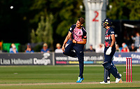 Chris Green bowls for Middlesex during Kent Spitfires vs Middlesex, Vitality Blast T20 Cricket at The Spitfire Ground on 11th June 2021
