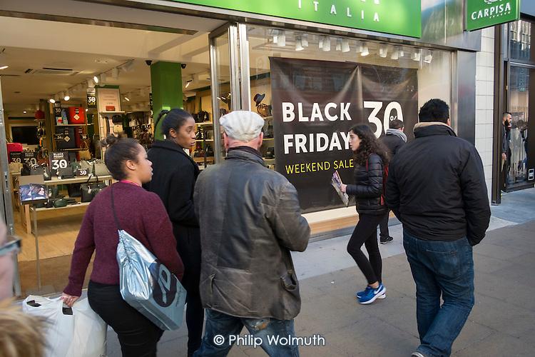 Black Friday shoppers, Oxford Street, London.
