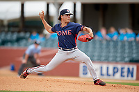 Rome Braves starting pitcher Odalvi Javier (51) delivers a pitch during a game against the Lexington Legends on May 23, 2018 at Whitaker Bank Ballpark in Lexington, Kentucky.  Rome defeated Lexington 4-1.  (Mike Janes/Four Seam Images)