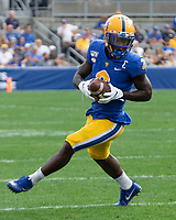 Pitt wide receiver Maurice Ffrench. The Pitt Panthers defeated the UCF Knights 35-34 in a football game played at Heinz Field, Pittsburgh, Pennsylvania on September 21, 2019.
