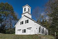 Green River Church, 1838, Guilford, Vermont, USA.
