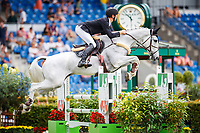 NZL-Clarke Johnstone rides Balmoral Sensation during the DHL-Preis CICO3* Eventing Showjumping. Interim-6th. 2018 GER-Weltfest des Pferdesports CHIO Aachen. Friday 20 July. Copyright Photo: Libby Law Photography