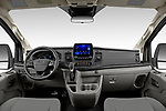 Stock photo of straight dashboard view of 2021 Ford Transit XLT 4 Door Passenger Van Dashboard