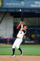 Quad Cities River Bandits shortstop Kristian Trompiz (3) during a game against the Bowling Green Hot Rods on July 24, 2016 at Modern Woodmen Park in Davenport, Iowa.  Quad Cities defeated Bowling Green 6-5.  (Mike Janes/Four Seam Images)