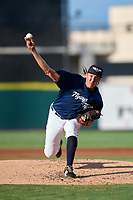 Lakeland Flying Tigers pitcher Wilmer Flores (44) during a game against the Jupiter Hammerheads on July 30, 2021 at Joker Marchant Stadium in Lakeland, Florida.  (Mike Janes/Four Seam Images)