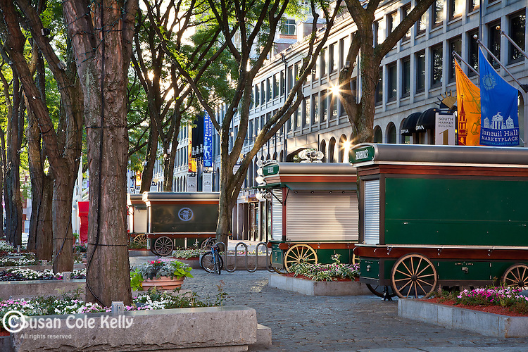 Early morning at Quincy Market, Boston, MA, USA