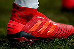 Shoe of Alvaro Odriozola Arzallus of Real Madrid is seen during the La Liga 2018-19 match between Real Madrid and Rayo Vallencano at Estadio Santiago Bernabeu on December 15 2018 in Madrid, Spain. Photo by Diego Souto / Power Sport Images