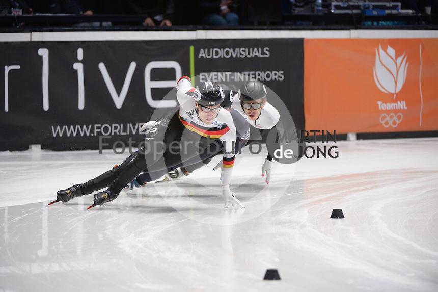 SPEEDSKATING: DORDRECHT: 07-03-2021, ISU World Short Track Speedskating Championships, RF 1000m Men, Christoph Schubert (GER), ©photo Martin de Jong