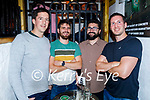 Enjoying the evening in Sean Ogs on Friday, l to r: Gerard Moran (Abbeydorney), Conor and Darren Cully and Brian Fitzgerald (Tralee).