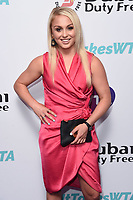 LONDON, UK. June 28, 2019: Aimee Fuller arriving for the WTA Summer Party 2019 at the Jumeirah Carlton Tower Hotel, London.<br /> Picture: Steve Vas/Featureflash