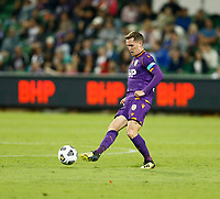 18th April 2021; HBF Park, Perth, Western Australia, Australia; A League Football, Perth Glory versus Wellington Phoenix; Neil Kilkenny of the Perth Glory passes the ball into midfield