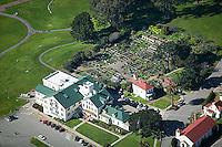 aerial photograph Presidio Community Garden Nursery San Francisco California