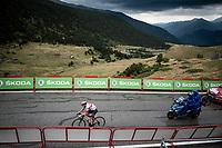 Tadej Pogačar (SLO/UAE-Emirates) on his way to the stage win<br /> <br /> Stage 9: Andorra la Vella to Cortals d'Encamp (94km) - ANDORRA<br /> La Vuelta 2019<br /> <br /> ©kramon