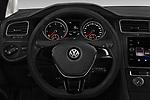 Car pictures of steering wheel view of a 2017 Volkswagen Golf Trendline 3 Door Hatchback