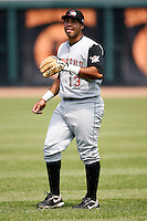 June 25, 2009:  Third Baseman Pedro Alvarez (13) of the Altoona Curve warms up before a game at Jerry Uht Park in Erie, PA.  The Altoona Curve are the Eastern League Double-A affiliate of the Pittsburgh Pirates.  Photo by:  Mike Janes/Four Seam Images