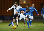 St Johnstone v Dundee....27.11.15  SPFL  McDiarmid Park, Perth<br /> Nick Ross and Murray Davidson<br /> Picture by Graeme Hart.<br /> Copyright Perthshire Picture Agency<br /> Tel: 01738 623350  Mobile: 07990 594431