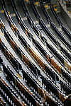 Rows of empty seats in the South Stand. Hull 2 Sunderland 2, League One 20th April 2021.