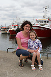 Aine and Laoise O'Connor at the Green Buoy 1KM Swim in Clogherhead....(Photo credit should read Jenny Matthews/NEWSFILE)...