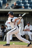 Zach Vincej #3 of the Pepperdine Waves bats against the Texas A&M Aggies at Eddy D. Field Stadium on March 23, 2012 in Malibu,California. Texas A&M defeated Pepperdine 4-0.(Larry Goren/Four Seam Images)
