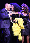 Berry Gordy, Diana Ross & Mary Wilson  during the Broadway Opening Night Performance Curtain Call for 'Motown The Musical'  at the Lunt Fontanne Theatre in New York City on 4/14/2013..