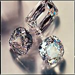 Diamonds refracting light